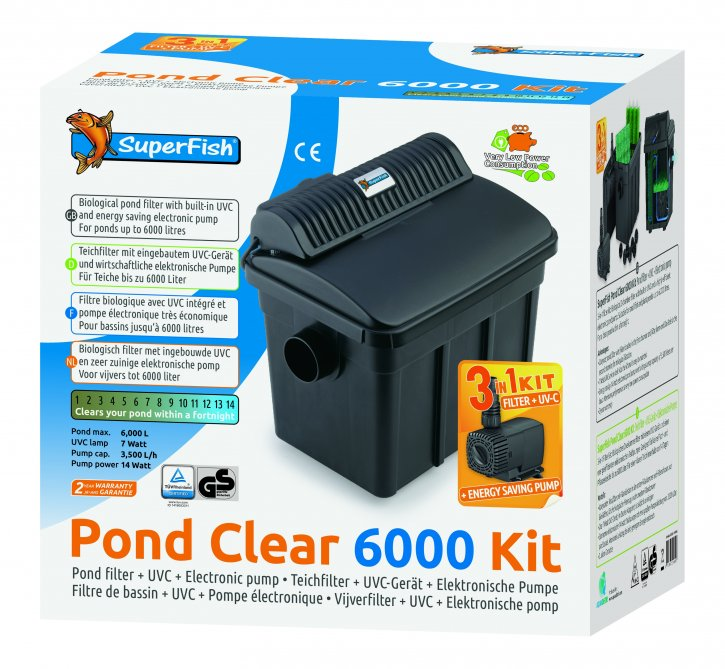 SuperFish Pond Clear Filter KIT 6000